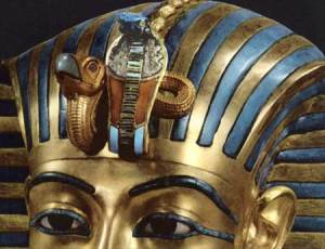 Uraeus On King Tut's Death Mask from approx 1333BC