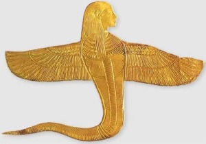 Human Headed Winged Cobra from King Tut's Tomb Goddess