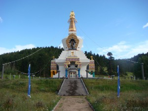 Great Stupa of Dharmakaya at Red Feather Lakes Colorado, USA by Eva The Dragon