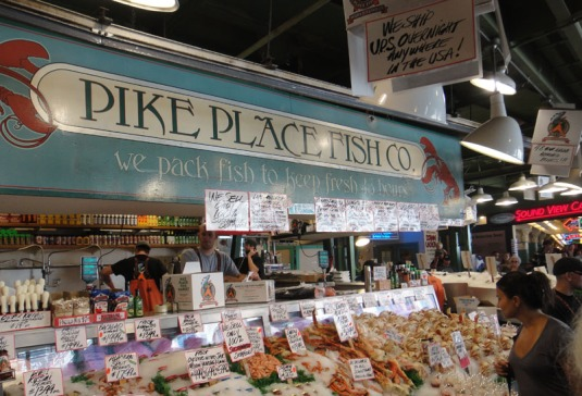 Pike place market tales of dragons rabbits and roosters for Pike place fish
