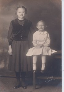 My grandmother, Louisa Colvin Burns, on the right