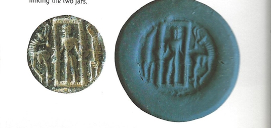 Dilmun seal with Enki enclosed in a room  perhaps a teleporter