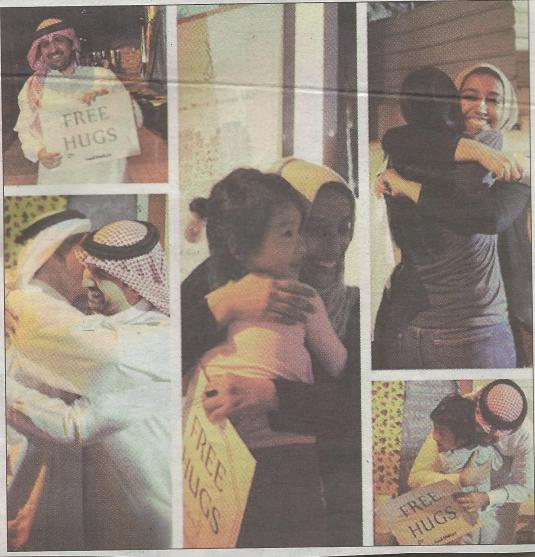 Bahrain Free Hugs Arab artists peace