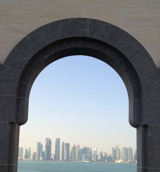 Doha Downtown from Arch