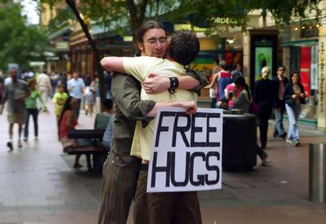 free hug Juan Mann Sydney