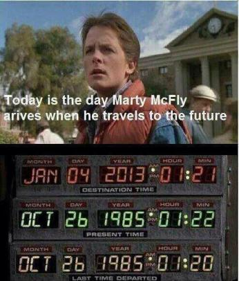 Marty McFly goes to the future