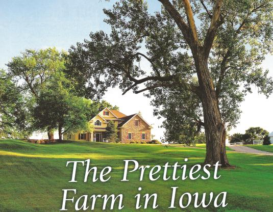 Our Iowa magazine photo of our prettiest farm
