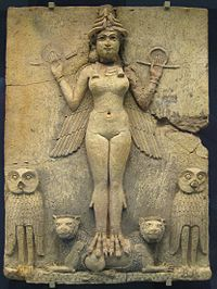 Ishtar from Babylonia British_Museum_Queen_of_the_Night from Wikipedia