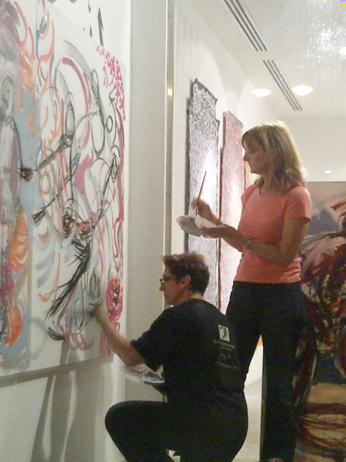 Rachel Gadsden Painting in Adliya