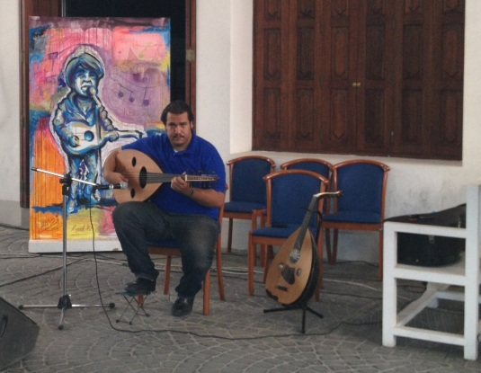 musician playing oud in the bab al bahrain Eva the Dragon 2013
