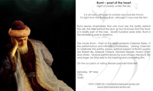 Rumi at La fontaine May 18