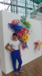 Yasmin Sharabi at Waterline Gallery with Lorrain Toddartwork