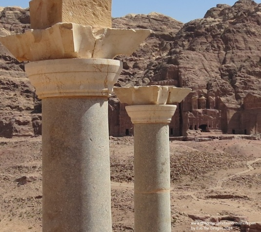 Blue Church with royal tombs in background petra jordan by eva the dragon 2013 v2