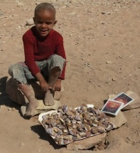 Bedouin Boy Selling Rocks