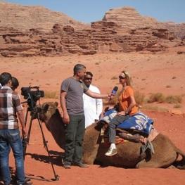 interview with jordan tv wadi rum jordan