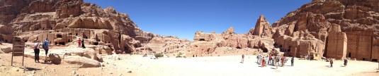Petra streets and tombs jordan by eva the dragon 2013