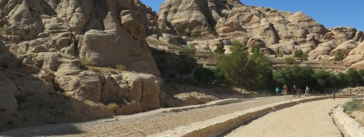 Road toward Siq Petra Jordan by Eva the Dragon 2013