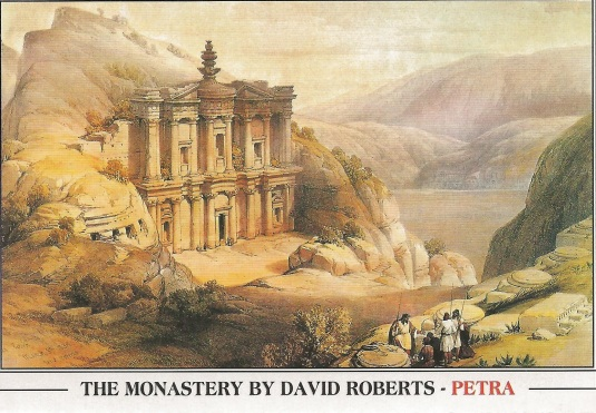the monastery by david roberts petra jordan