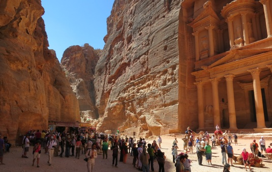 tourists around treasury at petra by eva the dragon 2013