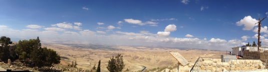 view of holy land from mount nebo jordan by Eva the dragon