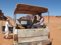 Wadi Rum Back of the truck