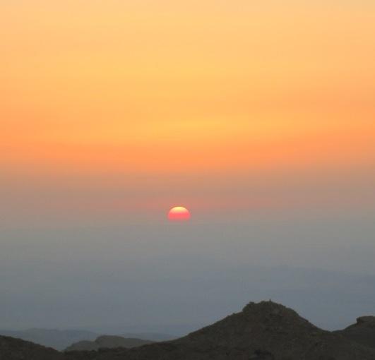 IMG_1064 sunset over rift valley petra jordan by eva the dragon 2013