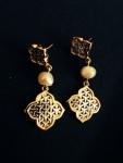 Juman Pearls Arabesque with Bahraini Pearls in yellow goldv2