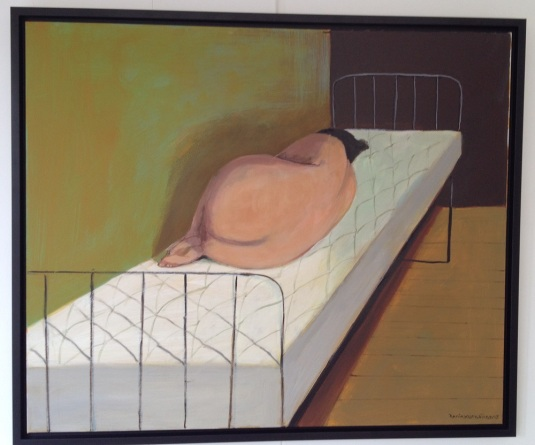 annie kurkdjian #art pained woman in bed 2013