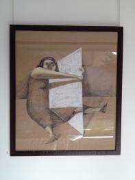 annie kurkdjian #art young woman studying self in mirror 2013