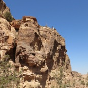 bedouin boy on petra cliff by evathedragon 2013