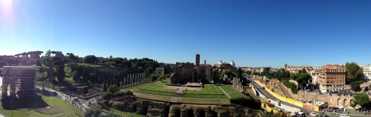 view of palantine hills from coliseum rome italy by eva the dragon 2013