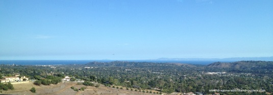 overlooking Santa Barbara and Channel Islands